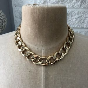 424 Fifth Thick Goldtone Link Necklace